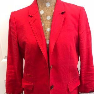 Jcrew Red blazer size 12